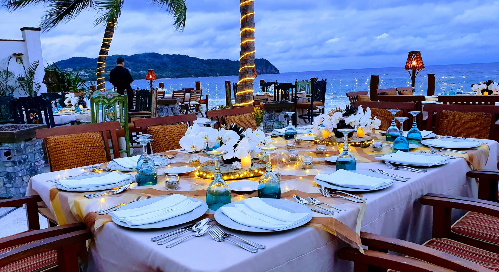 casa de mita weddings dining ocean view